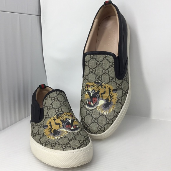 78ba9dcb0c8 Gucci Other - Gucci GG Supreme Tiger Slip-on Sneaker